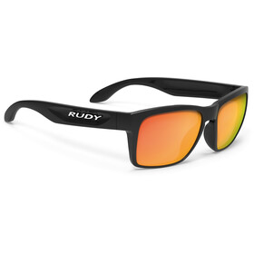Rudy Project Spinhawk Slim Lunettes, black gloss - rp optics multilaser orange